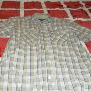 Aeropostale Shirts - Aeropostale Mens Green Plaid Button Down Shirt